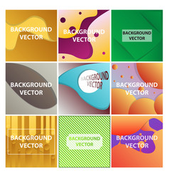 abstract background set art template design for vector image
