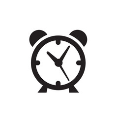 alarm clock icon in flat style icon for apps and vector image