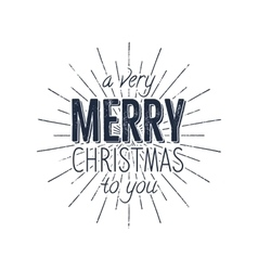 Avery Merry Christmas to you typography label vector image
