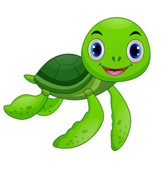 baby sea turtle cartoon vector image