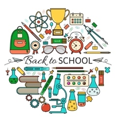 Back School Card vector