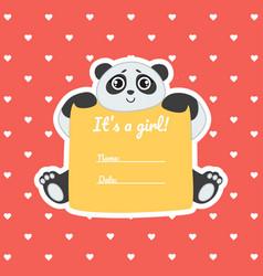 bagirl shower invitation template on red polka vector image