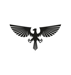 black eagle silhouette isolated on white vector image