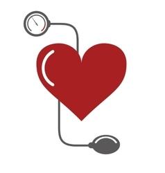 Blood pressure cuff icon vector