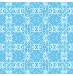Blue geometric seamless tiled pattern vector