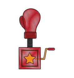 Boxing glove surprise joke vector
