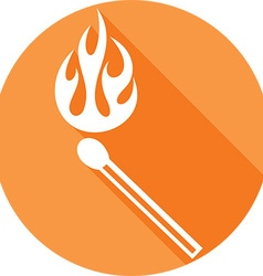 Burning match icon vector
