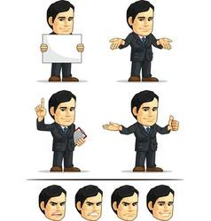 Businessman or company executive customizable 8 vector