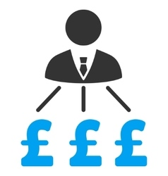 Businessman pound expenses flat icon symbol vector
