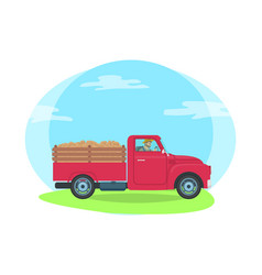 car trailer transportation vector image