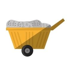 cartoon cart train mining mineral vector image
