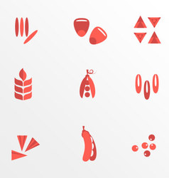 Cereals and seed flat icons vector