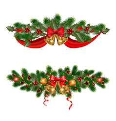 Christmas adornments vector