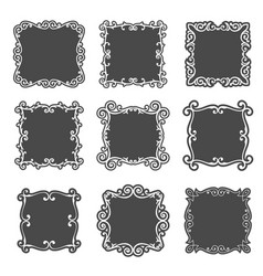 Classic frame set vector