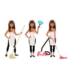 cleaninglady vector image