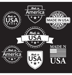Collection of made in the usa labels vector