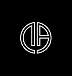 da monogram logo circle ribbon style outline vector image