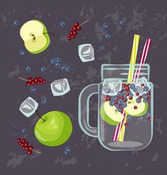 detox water menu vector image