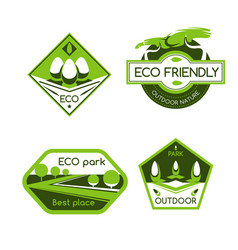 Eco city park label for ecology and nature design vector