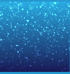Falling snow on blue background vector