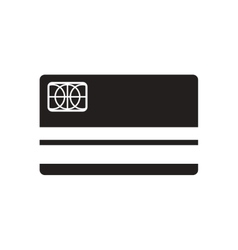 Flat icon in black and white bank card vector
