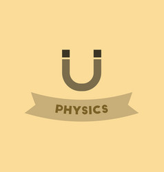 Flat icon on background physics lesson vector