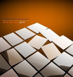 Glossy brown tiles vector