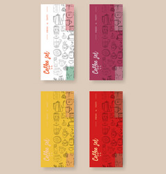 Hand drawn with fast food restaurant menu vector