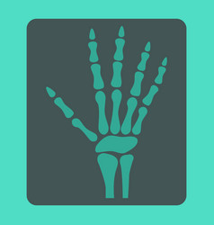 Hand x-ray flat icon medicine and healthcare vector
