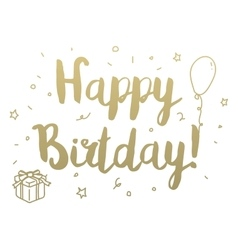 Happy Birthday Greeting card with modern vector