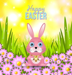 Happy easter card template vector
