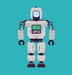 happy robot technology cartoon funny vector image