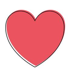 heart icon in watercolor silhouette vector image