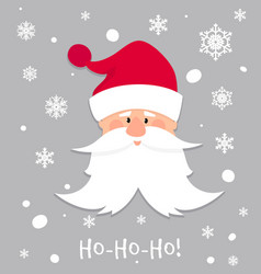ho-ho-ho christmas banner cartoon santa claus vector image