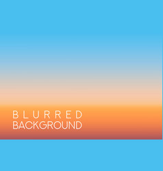 Horizontal wide sunset blurred background vector