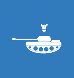 Icon tank and mortar shell vector