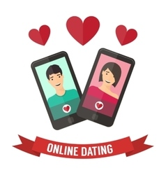 Internet dating online flirt and relation Mobile vector