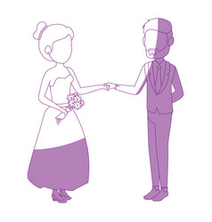 isolated cute newlywed couple vector image
