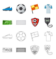 Isolated object of soccer and gear symbol vector