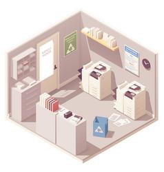 Isometric office copy room vector