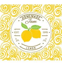 Jam label design template for lemon dessert vector
