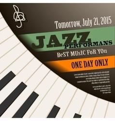 Jazz musician poster vector image