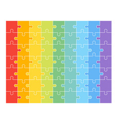jigsaw puzzle set of 63 colorful pieces vector image