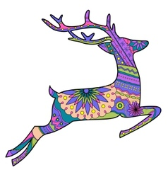 Jumping deer vector