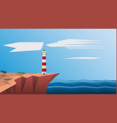 lighthouse on the sea lighthouse background vector image