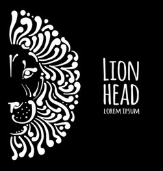 Lion face logo sketch for your design vector