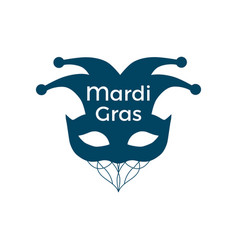 mardi gras carnival mask on a white background vector image