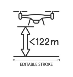 Max flight height linear manual label icon vector