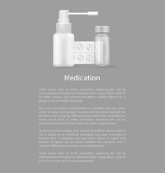 medication poster with container for medical pills vector image