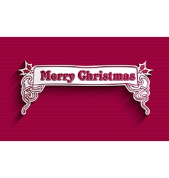 Merry Christmas vintage label vector